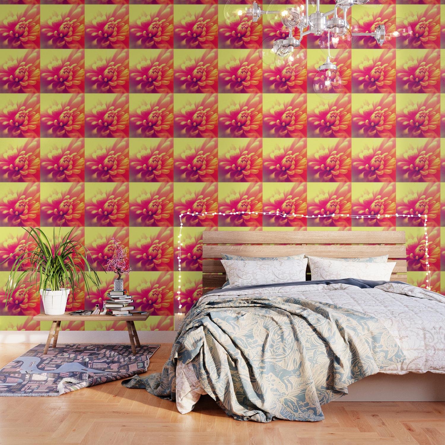 Hot Summer Floral Wallpaper By Sexyeyes69 Society6