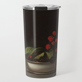 Blackberries - Raphaelle Peale - c.1813 Oil Paintig Travel Mug