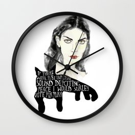 In the world of purrr Wall Clock