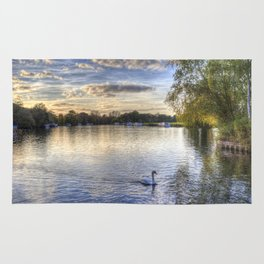 River Thames  Sunset Rug