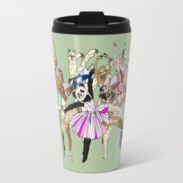 Animal Ballet Hipsters - Green Travel Mug