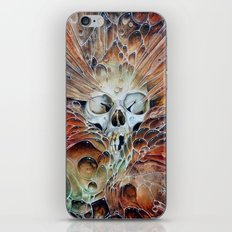 Bubble skull -oil iPhone & iPod Skin