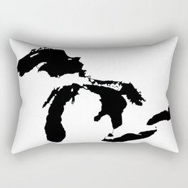 Map of the Great Lakes Rectangular Pillow