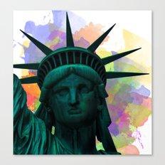 Statue of Liberty Splatter Canvas Print