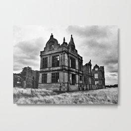 Moreton Corbet Castle - B&W Metal Print