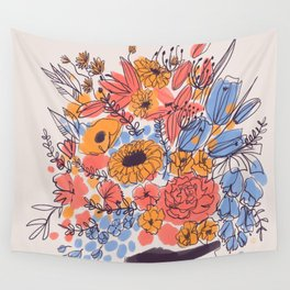 February Florals Wall Tapestry