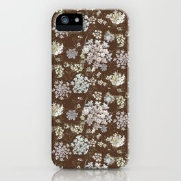 MICHIGAN LACE BROWN WKS iPhone Case