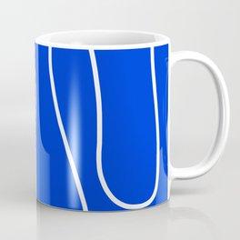 Blue Abstract Wave Coffee Mug