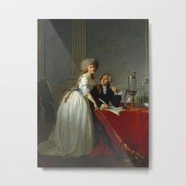 "Jacques-Louis David ""Portrait of Monsieur Lavoisier and His Wife"" Metal Print"