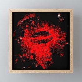 Gothic Bloody Kiss Framed Mini Art Print