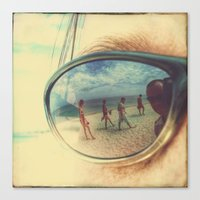 sunglasses Canvas Prints featuring Sunglasses by Jean-François Dupuis