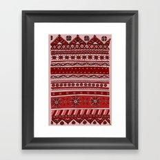 Yzor pattern 005 red Framed Art Print
