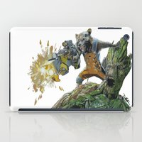 guardians iPad Cases featuring Guardians by theMAINsketch