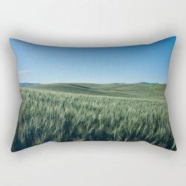 Wheat Fields Photography Print Rectangular Pillow
