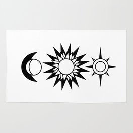 The Moon The Sun and The Stars with Zodiac Signs Rug