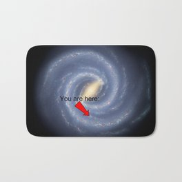 You are Here (improved version) Bath Mat