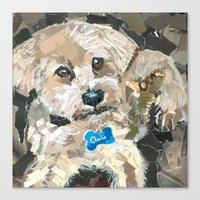 charlie Canvas Prints featuring Charlie by Maritza Hernandez
