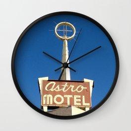 Motel Drive / Astro Motel Sign Wall Clock