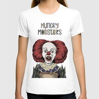 pennywise T-shirts featuring Pennywise is hungry by Andres Eladio