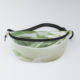 Spring made of dreams with snowdrops and Porzellan Fanny Pack