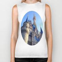castle Biker Tanks featuring Castle by Jillian Stanton