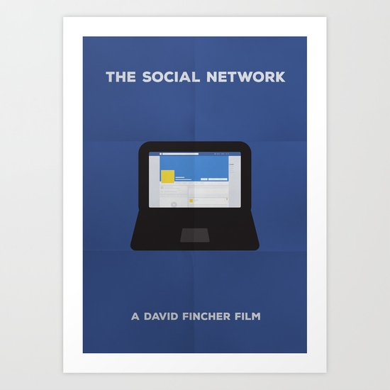 The Social Network Minimalist Art Print
