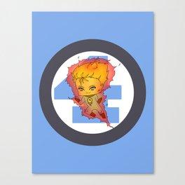 Chibi Human Torch Canvas Print
