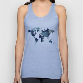 Blue Marble Texture Unisex Tank Top