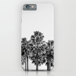 California Beach Vibes // Black and White Palm Trees Monotone Travel Photograph iPhone Case