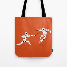 Stormtroopers Swordfencing Tote Bag