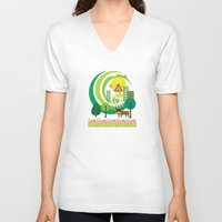 farm V-neck T-shirts featuring Farm by Design4u Studio