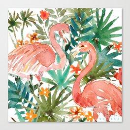 FLAMINGO PARADISE Canvas Print