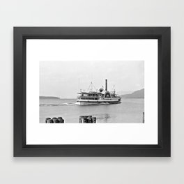 Ticonderoga Side Wheeler Steamboat Framed Art Print