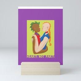 Hearts Not Parts Mini Art Print