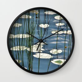 Yellow waterlily Wall Clock