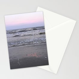 pink as the seafoam Stationery Cards