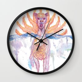 Paper Jam Poster by McKenna Sendall Wall Clock