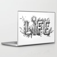 flower of life Laptop & iPad Skins featuring LIFE by bonathos