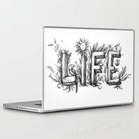 flower of life Laptop & iPad Skins featuring LIFE by bonathos