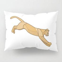 Geometric Mountain Lion / Cougar Pillow Sham