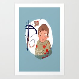 As you can not love a crossbow? Art Print