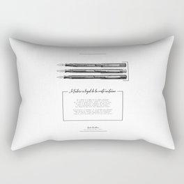 Je t'adore à l'égal de la voûte nocturne Charles Baudelaire Poème Rectangular Pillow