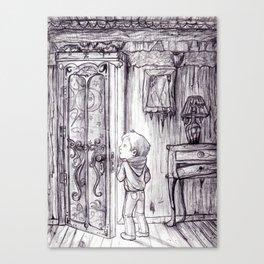 The secret door Canvas Print