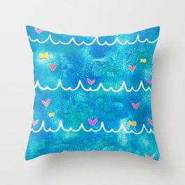 Sea of Love Throw Pillow