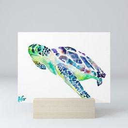 Sea Turtle Colorful Design Mini Art Print