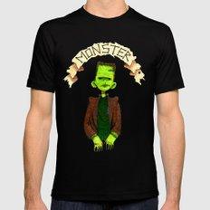 Monster (Frankenstein) LARGE Mens Fitted Tee Black
