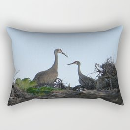 Sandhill Crane pair Rectangular Pillow