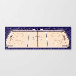 Blades of Steel Rink Canvas Print