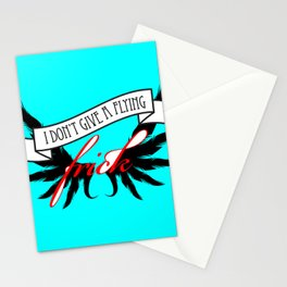 """I Don't Give A Flying Frick"" Stationery Cards"