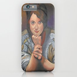 A Young German Woman In Traditional Dress iPhone Case
